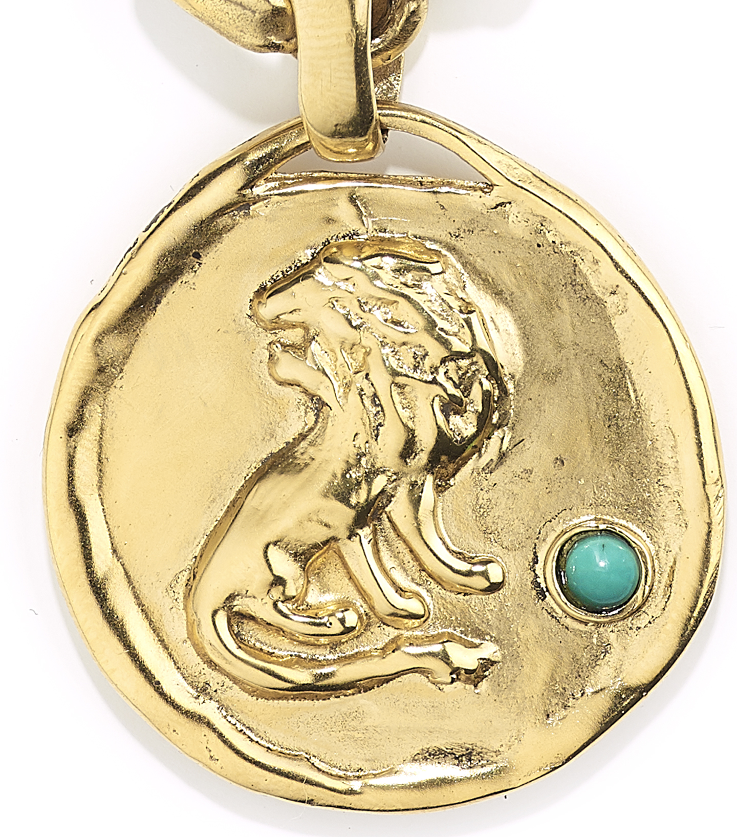TALISMAN leo medal necklace CROP